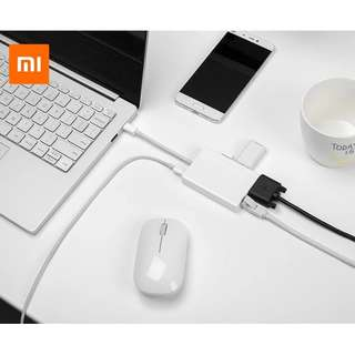 Authentic Xiaomi Mi Type-C USB-C To 2K@60Hz VGA Gigabit Ethernet Port 2 USB 3.0 Hub Type-C M Type C USB3.0 PD Charging USB C 65W