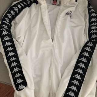 Kappa white zipper jacket/sweater
