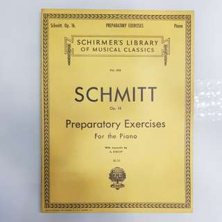 Schmitt Preparatory Exercises For the Piano