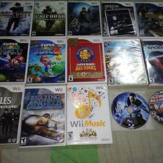 Wii games for sale mario galaxy resident evil monster hunter etc