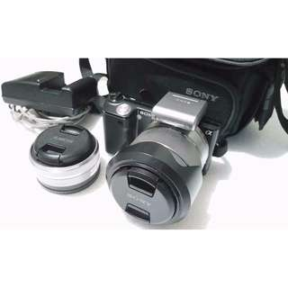 Sony Nex 5 with 2 Lenses