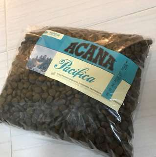 new, heat seal repack.  Dog/Animal food, ACANA Pacifica All breeds - zoom into pictures for details. Est 2kg