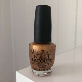 NEW OPI with a nice Finnish gold copper metallic nail polish authentic full size