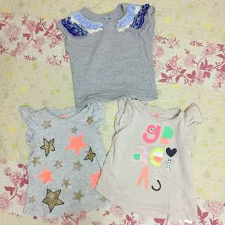 3pcs Cotton On Kids Girl tshirt 4year
