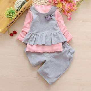 SLEEVELESS SUIT THREE-PIECE SET (FF089)
