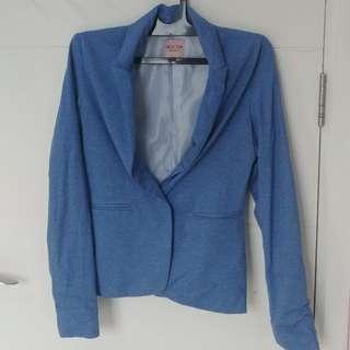 Bershka casual jaket biru muda