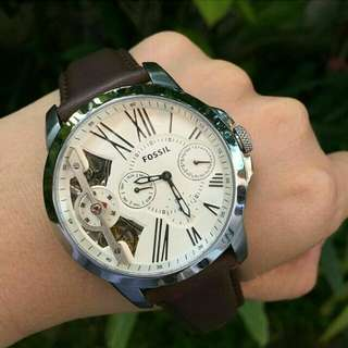 Fossil Grant Brown Leather Watch
