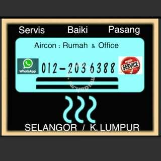 Aircond Service Repair Install / Aircon Servis Baiki