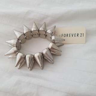 Forever 21 Silver Spikey Bracelet BNWT