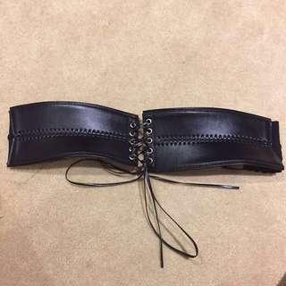 Black Leather Corset