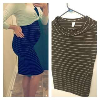 Maternity high waisted skirt
