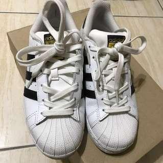 adidas superstar 金標 22.5 9成5新