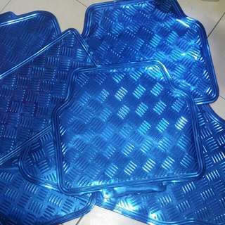 Van truck car Blue Chrome Car Mats