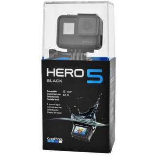 GoPro hero 5 free delivery 1 year international/local warranty sealed($390) ignore bump price