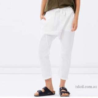 BNWT Nude Lucy White Drop Crotch Pants