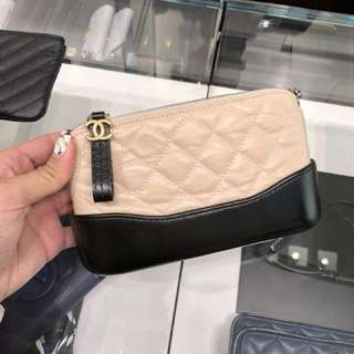 Chanel double zip cross body bag
