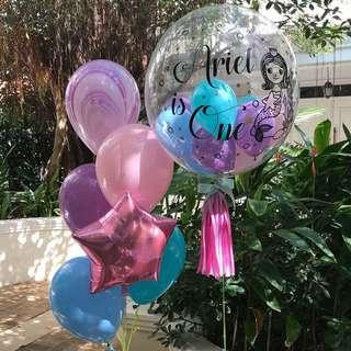 Mermaid customised balloon set
