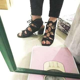Brash lace heels