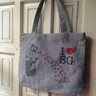 Singapore Souvenir Handbag ( I ♥️ SG)