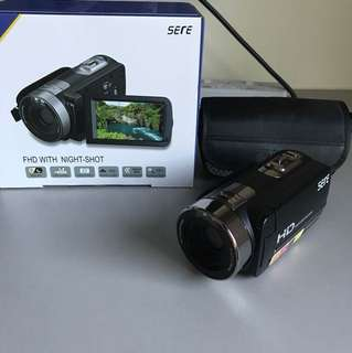 Brand new compact camcorder/video camera, see description for details.