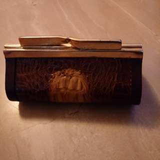 Vintage crocodile skin coin purse
