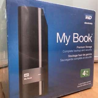 MyBook 4 TB external Drive WD USB MAC WIN