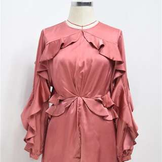 BNIP Lou Flounce Satin Winsome Flutter Playsuit in Amber Pink *Zimmermann Style (RRP $295-595) #dressflashsale