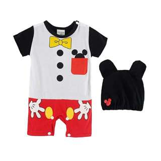 BN Mickey Costume Baby Rompers