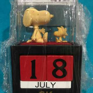 Set B: Snoopy Gold Date Holder by SK Jewellery