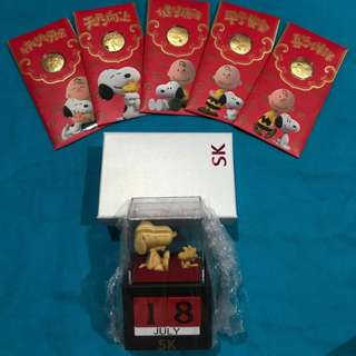Set C: 1 set of Snoopy Gold Coins and Date Holder by SK Jewellery