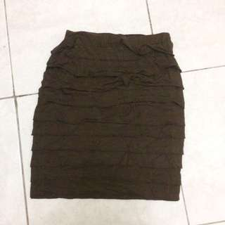 Mini skirt rok brown coklat