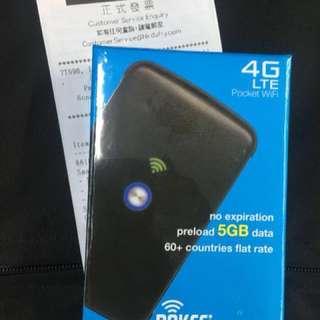 原裝豐澤全新未開封SMARTGO 個人流動wifi蛋Pokefi Pocket WiFi 送5Gb data wifi egg pockitwifi(旅行必備)
