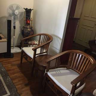 Teak Coffee Table and Chairs