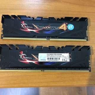 2x Gskill Ripjaws 4 8GB DDR4 Ram 2400MHz
