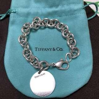 Authentic Tiffany circle charm bracelet