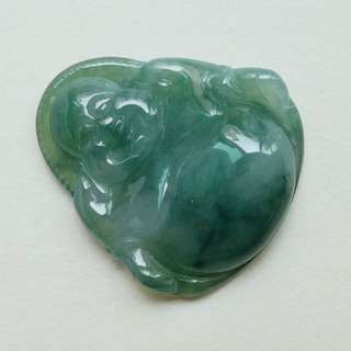 Icy Handmade Green 100% Natural Grade A Jade Jadeite Pendant Necklace