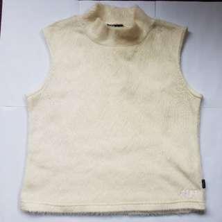 White Faux Fur vest size 14