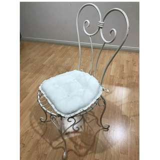 Decorative Chair - Cream with cushion included