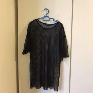 Forever 21 Net Tshirt Dress/Top