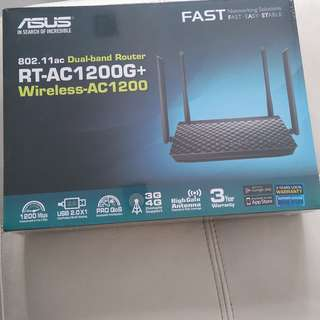 Asus RT-AC1200G+ Dual Band Router 802.11ac Wireless AC1200 (SEALED)