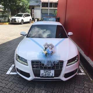 White Wedding Car for 2018 booking
