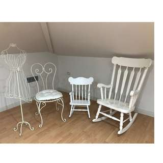PACKAGE DEAL - HOME DECOR (Chairs, mannequin)