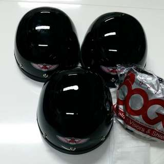*MHR half helmet* Black is back! And even cheaper than cheap! Come with clear or tinted visor!