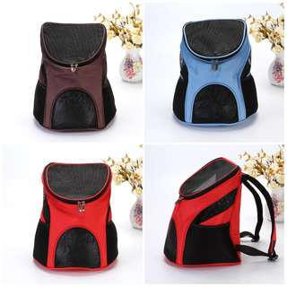 NEW (4 colours available) carrier pet cat dog puppy kitten cage carry haversack backpack