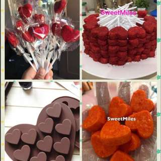Heart chocolate silicon mold