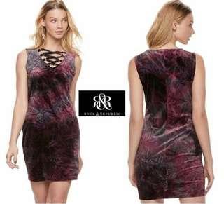 Rock Republic Velvet Sheath Dress