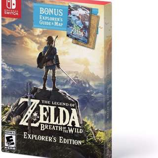 Zelda Breath Of The Wild Explorer's Edition