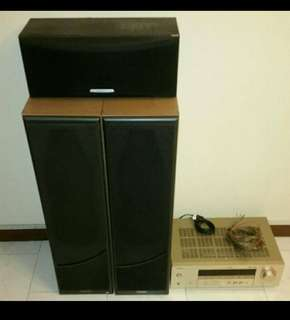 2.1 hone theatre system. Speaker + amp + subwoofer + delivery = $200 Only!
