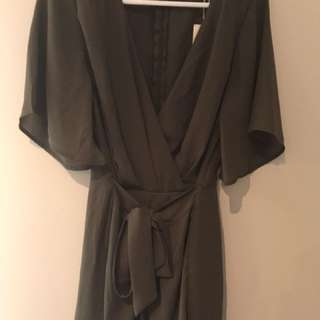 Olive green playsuit