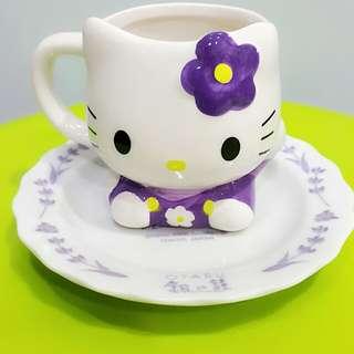 Hello Kitty 瓷杯盤 銀之鐘